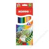 KORES Akvarell ceruza készlet, hegyezővel, ecsettel, KORES, 12 különböző szín (IK93812)