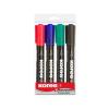 """KORES Alkoholos marker, 3-5 mm, kúpos, KORES """"Marka"""", 4 különbözo szín (4 db)"""