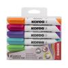 """KORES """"Marka"""" 3-5 mm kúpos tábla- és flipchart marker készlet (6 db/készlet)"""