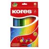 """KORES Színes ceruza készlet, háromszögletű, KORES """"Triangular"""", 36 különböző szín (IK100336)"""