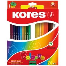 """KORES Színes ceruza készlet, hatszögletű, KORES """"Hexagonal"""", 24 különböző szín színes ceruza"""