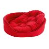 Krakvet /ZooFast fekhely párnával piros 105x82x23cm