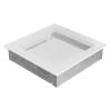 Kratki Fehér Szellőzőrács Standard 22x22