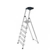 KRAUSE Állólétra, 6 lépcsőfokos, alumínium, Multigrip-system, KRAUSE  Secury létra és állvány