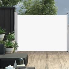 Krémszínű behúzható oldalsó teraszi napellenző 120 x 500 cm kerti bútor