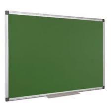 Krétás tábla, zöld felület, nem mágneses, 100x150 cm, alumínium keret információs tábla, állvány