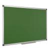 Krétás tábla, zöld felület, nem mágneses, 60x90 cm, alumínium keret, VICTORIA