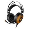 Krom Gamer Headset Mikrofonnal Kayle USB Fekete Narancszín