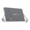 KSIX POWERBANK 5000MAH WITH BUILT-IN LIGHTNING CABLE + MICRO USB szürke