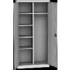 KSPS 01 P kétajtós irodai gardrób szekrény, 5 fix polc, akasztók