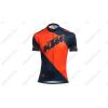 KTM Factory Line rövid ujjú kerékpáros mez narancs/kék XXL-es