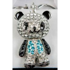 Kulcstartó - Panda kék mellényben