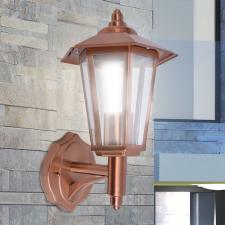 kültéri rozsdamentes acél fali lámpa, réz színű kültéri világítás