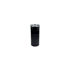 . Kültéri  szemetes,  hamutartóval kombinált,  25x58 cm, fekete szemetes
