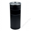 . Kültéri  szemetes,  hamutartóval kombinált,  25x58 cm, fekete (UVV004)