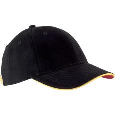 KUP Orlando baseballsapka, 6 paneles,U, fekete/sárga/piros