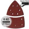 KWB Tépőzáras csiszolópapír P40 / 100x62 mm  (5 db)