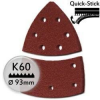 KWB Tépőzáras csiszolópapír P60 / 100x62 mm  (5 db)