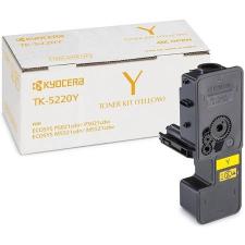 Kyocera TK5220Y Lézertoner P5021cdn, P5021cdw, M5521cdn, M5521cdw nyomtatókhoz, KYOCERA sárga 1,2k nyomtatópatron & toner