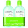 Laboratoire Bioderma Bioderma Sébium H2O arc- és sminklemosó 500ml+500ml DUO PACK