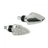 """Lampa Lampa """"Arrow"""" LED motorkerékpáros index párban - Króm"""