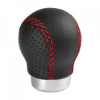 Lampa Zero Sport Sebváltógomb - Fekete bőr, Piros Varrás
