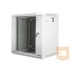 Lanberg 19'' fali rack szekrény 12U 600x450mm szürke (üvegajtó)