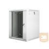 Lanberg 19'' fali rack szekrény 15U 600x600mm szürke (üvegajtó)