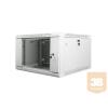 Lanberg 19'' fali rack szekrény 6U 600x600mm szürke (üvegajtó)