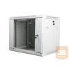 Lanberg 19'' fali rack szekrény 9U 600x450mm szürke (üvegajtó)