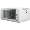"""Lanberg 19"""" fali rack szekrény 4U 600x450mm szürke (üvegajtó)"""
