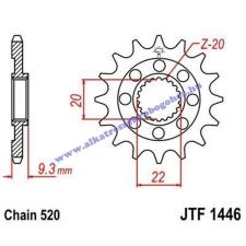 Lánckerék első JTF1446SC 520 14 fogas lánc, láncszett