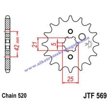 Lánckerék első JTF569 520 13 fogas lánc, láncszett