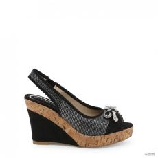 Laura Biagiotti női magastalpú cipő 5605_NABUK_fekete