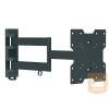 LCD fali karos konzol, 3 tengelyű, billenthető VESA200 fekete vagy fehér (távolság a faltól: 5,6 - 61 cm)