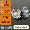 LED lámpa MR16-GU5.3 (4W/50°) Szpotlámpa - természetes fehér