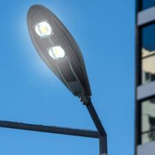 LED lámpa, utcai világítás, kandeláber, 100 W kültéri világítás