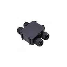 Led reflektorhoz kötődoboz (4 elosztású) vízmentes fekete IP68 kültéri világítás