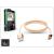 LED SOUND USB - USB Type-C adat- és töltőkábel - LED Sound Premium Type-C 3.0 - gold