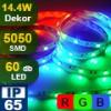 LED szalag kültéri (5050-060-FN) - RGB, Dekor, 5 méter!
