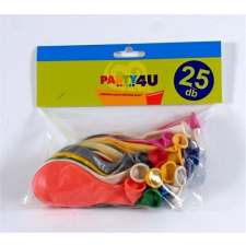 . Léggömb, 26 cm, gyöngyházfényű, vegyes szín dekoráció