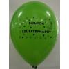 """Léggömb, 26 cm, két oldalon nyomott """"Boldog születésnapot"""", vegyes szín"""