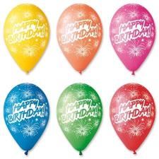 """. Léggömb, 30 cm, """"Happy Birthday"""", tüzijáték party kellék"""