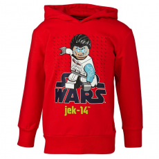 LEGO SHANE751-349-110 - LEGO Wear Star Wars Shane 751 fiú piros kapucnis pulóver 110-es méretben