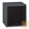 """LEGRAND fali rackszekrény 19"""" 6U, 362x600x400, antracit, egyrekeszes, üvegajtós, készre szerelet, max.18 kg"""