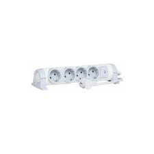 LEGRAND Legrand elosztósor, 4 aljzat, 1,5m, forgatható, kapcsoló kábel és adapter