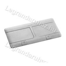 LEGRAND Pop-up felnyíló süllyesztett padlódoboz 8 (2×4) modul, alumínium, üres villanyszerelés