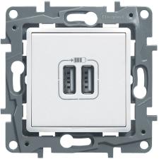 LEGRAND Valena Life kettős USB töltőaljzat beépített tápegységgel 5V 1500 mA (alumínium) villanyszerelés
