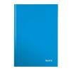 """Leitz Beíró, A4, kockás, 80 lap, keményfedeles, lakkfényű, LEITZ """"Wow"""", kék"""
