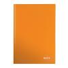 """Leitz Beíró, A4, kockás, 80 lap, keményfedeles, lakkfényű, LEITZ """"Wow"""", narancssárga"""